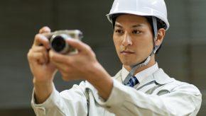 工事写真を撮る人